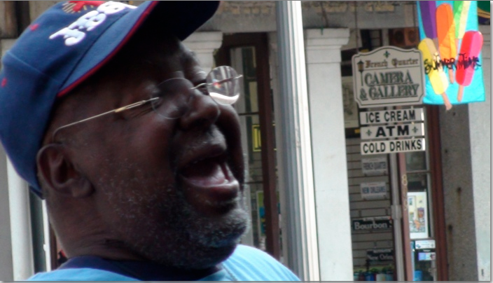 Blues singer in New Orleans.