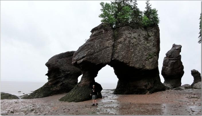 the lovers arch flower pot rocks low tide