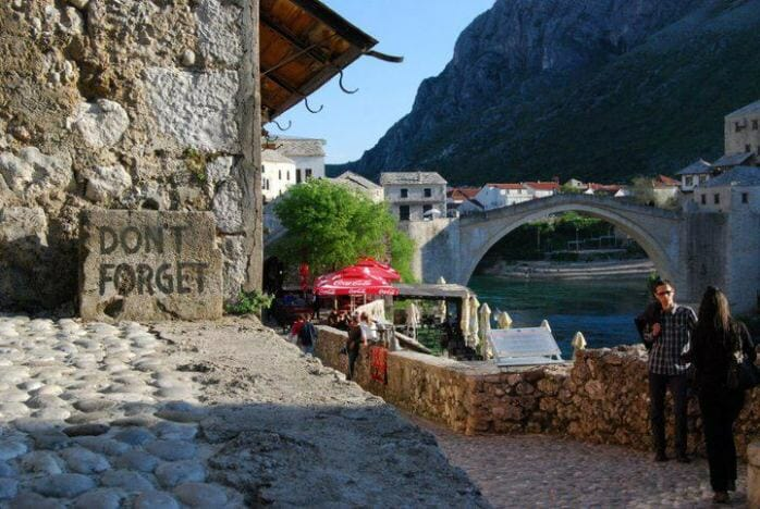 photo, image, bridge, mostar, bosnia herzegovina