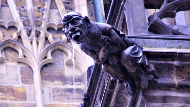 photo, image, gargoyle, prague, czech republic