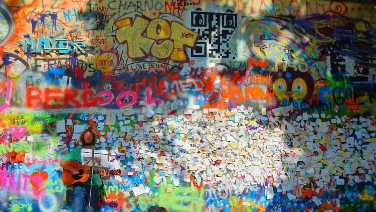 photo, image, john lennon wall, prague