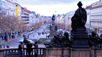 photo, image, wenceslas square, prague, czech republic