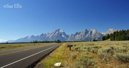 photo, image, road, grand teton national park, solo road trips