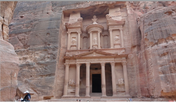 Petra the bank building