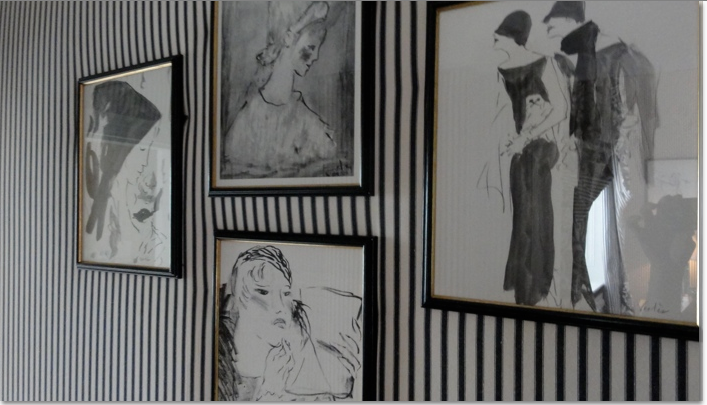 Sketches on wall.
