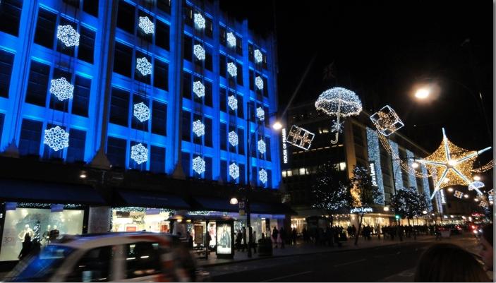 Marylebone, London & Christmas Magic on Oxford Street