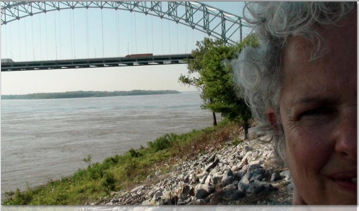 Woman at river