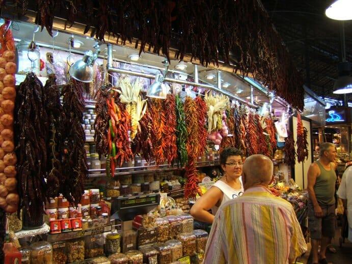 photo, image, la boqueria market, barcelona