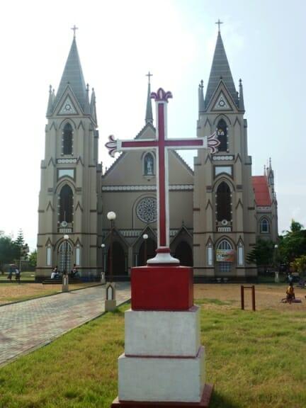 photo, image, church, negombo, sri lanka