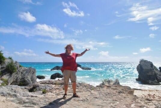 photo, image, woman, beach, bermuda
