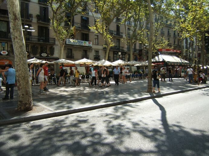 photo, image, las ramblas, barcelona