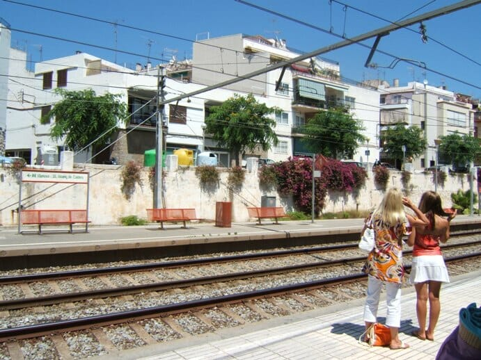 photo, image, train station, Sitges