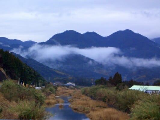 photo, image, mountains, uchinoura, japan, wwoofing