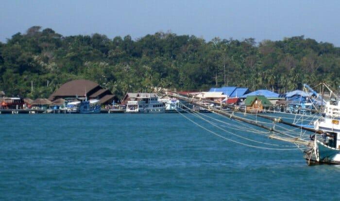 photo, image, koh chang, docks, thailand