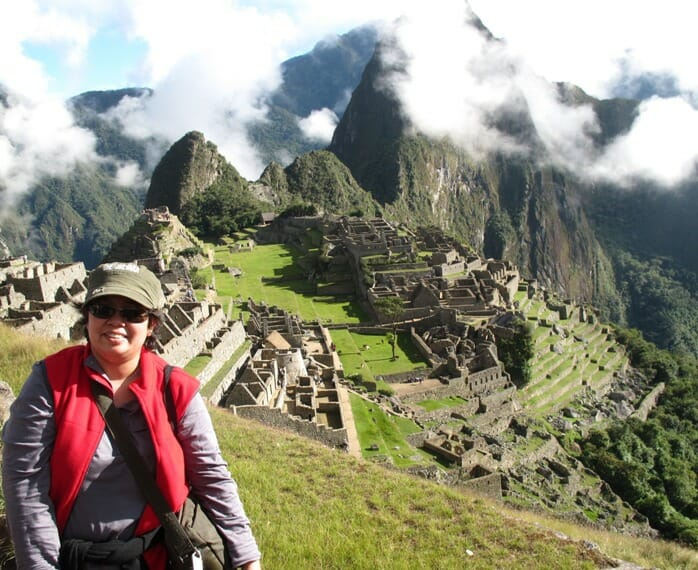 photo, image, woman, machu picchu