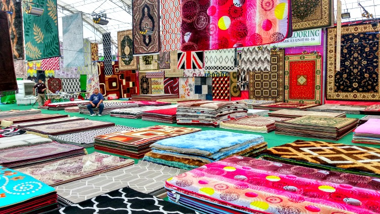 photo, image, carpets, market, singapore, joo chiat
