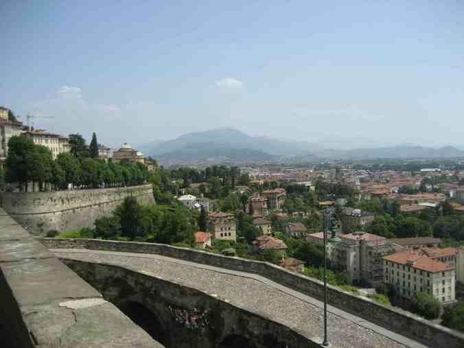 photo, image, wall, Bergamo
