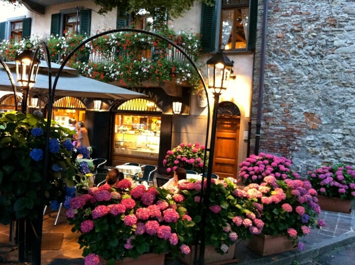 photo, image, cafe, flowers, Bergamo