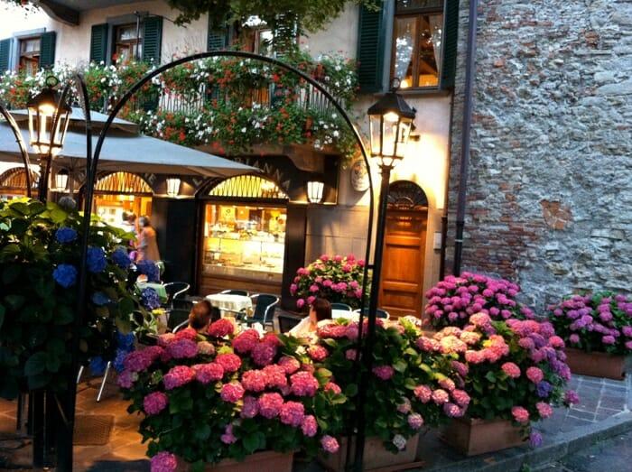 photo, image, cafe, flowers, Bergamo