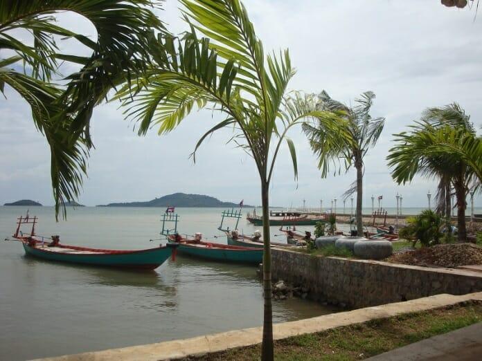 photo, image, sea wall, kep, cambodia