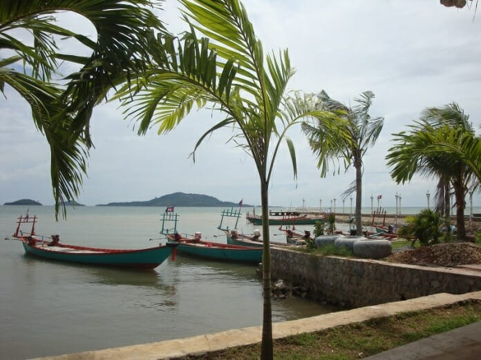 photo, image, sea wall, kep, cambodia