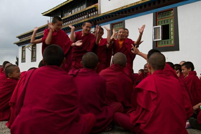 photo, image, buddhist monks, india