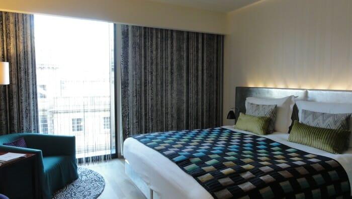 My room at the Hotel Missoni, Edinburgh.