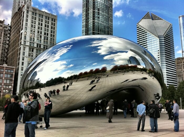photo, image, cloud gate, chicago