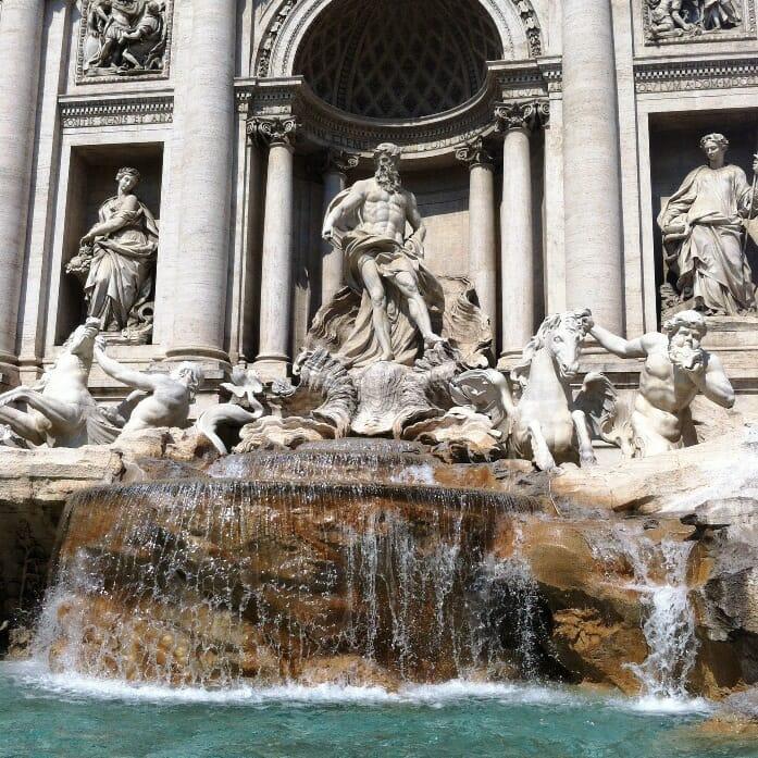 photo, image, trevi fountain, italy, rome