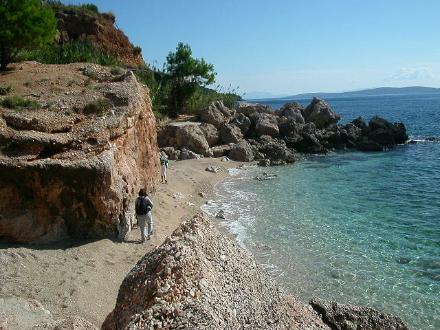 photo, image, beach, rocks, hvar, croatia