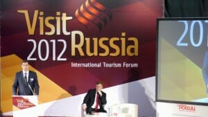 I spoke at The Visit Russia Forum in Yaroslavl - I don't have a word of Russian.