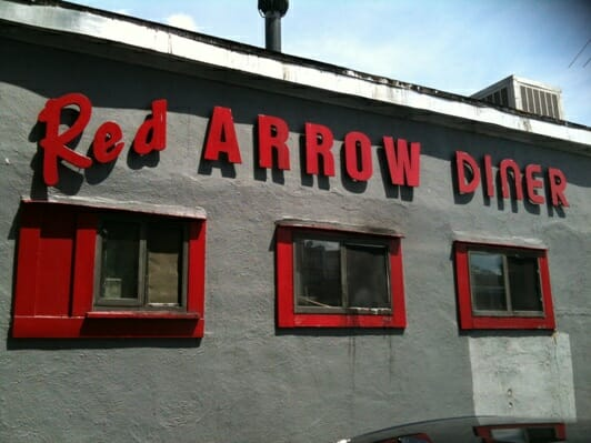 photo, image, red arrow diner, comfort zone