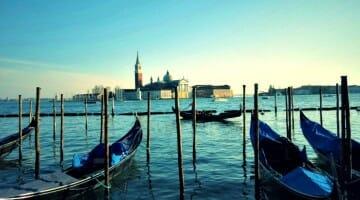 photo, image, gondolas, venice, italy