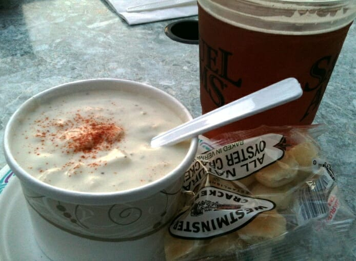 photo, image, clam chowder, beer