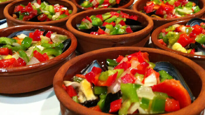 Tapas, Salad with tuna, Girona Spain