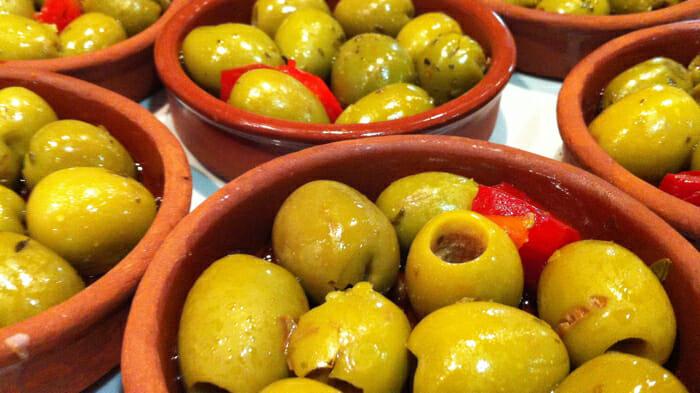 Tapas, olives, girona, Spain