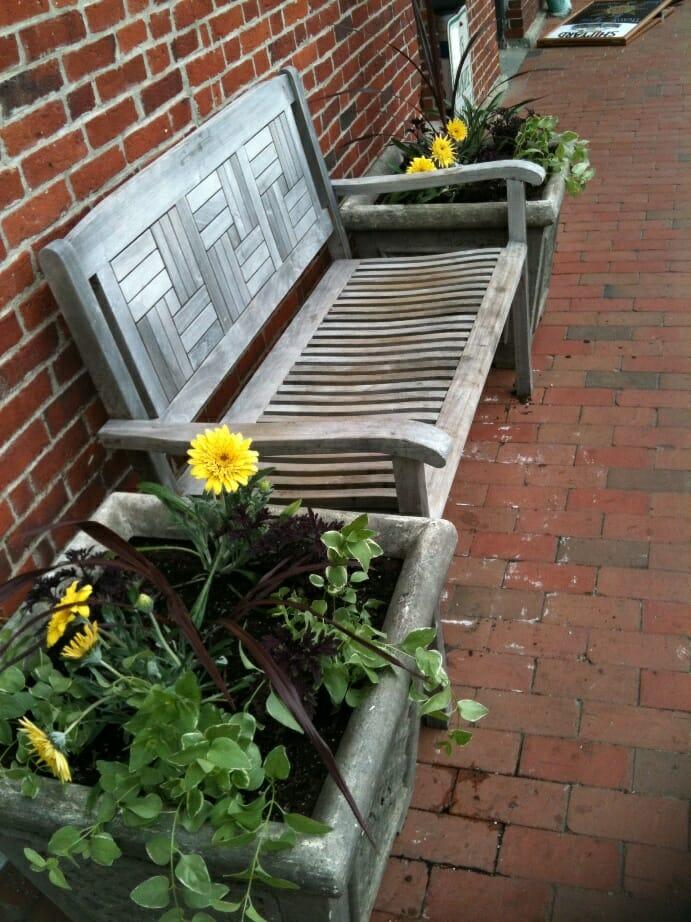 photo, image, bench, portsmouth