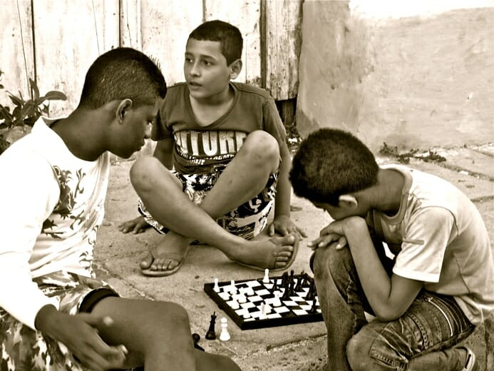 photo, image, boys, chess