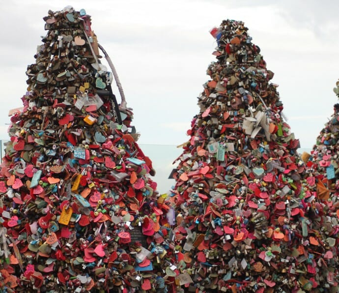 photo, image, locks, namsan tower