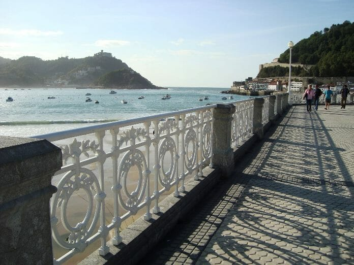 photo, image, promenade, san sebastian
