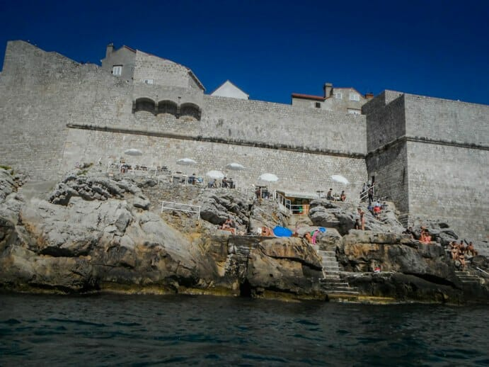 photo, image, dubrovnik, cliff bar