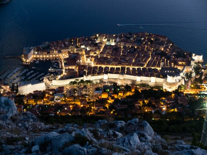 photo, image, dubrovnik, night
