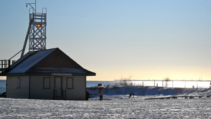Beaches lifesaving station Toronto Ontario Canada, alone for Christmas