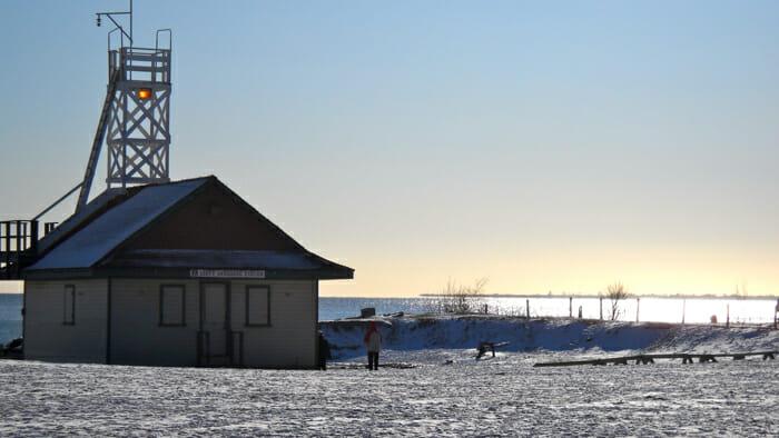 Beaches lifesaving station Toronto Ontario Canada, alone for Christmas