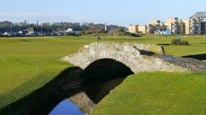 "My bridge was simple, like this one on ""The Old"" course in St. Andrews, Scotland."