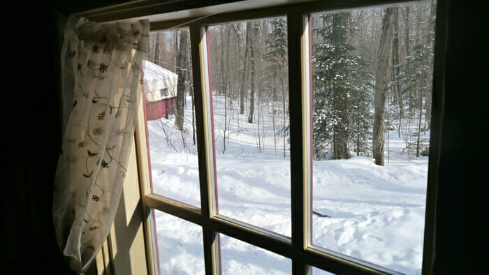 view of winter from window, winter retreat