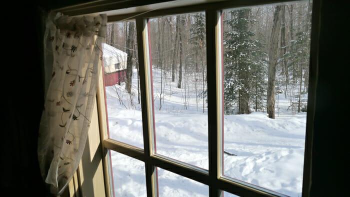 view of winter from window, winter retreat