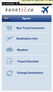 Travel app features