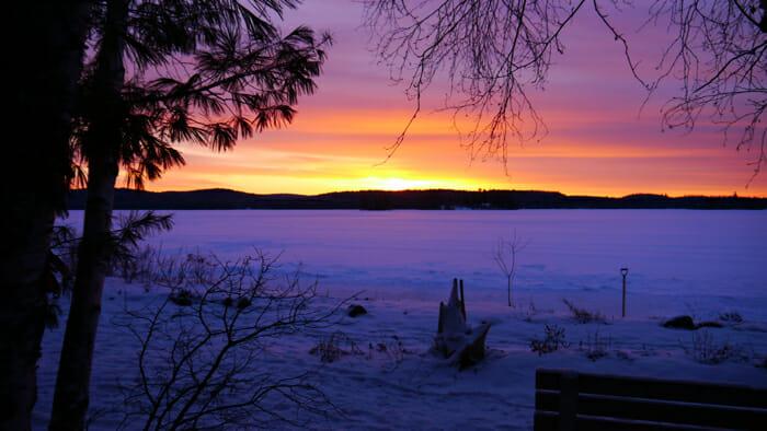 Kawawaymog Lake, Algonquin Park, Ontario, Canada, winter retreat