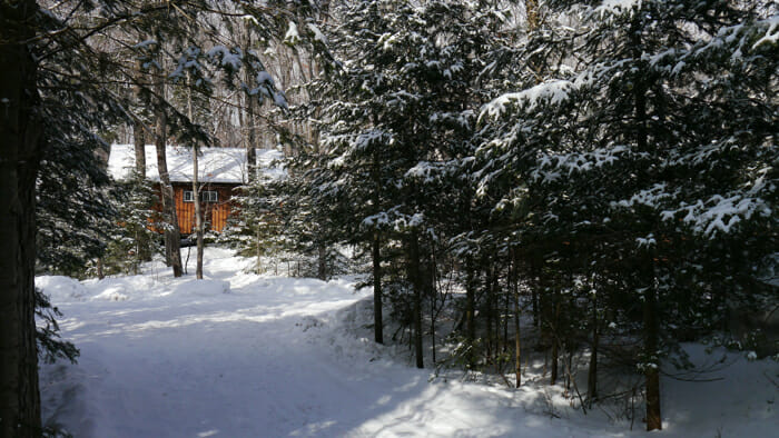 photo, image, winter retreat, Cabin in the woods